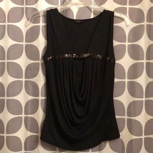 Forever 21 Black sleeveless top with open center